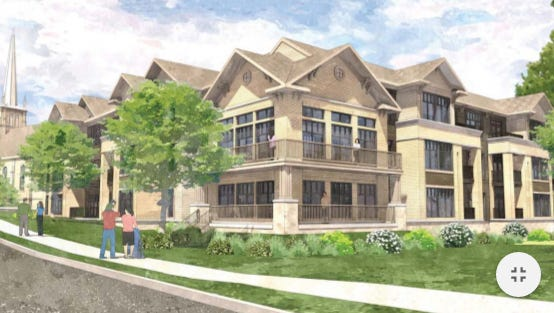 Nearly $ million in tax incremental financing has been approved for the Arrabelle apartments near the St. Francis Borgia Catholic Church.