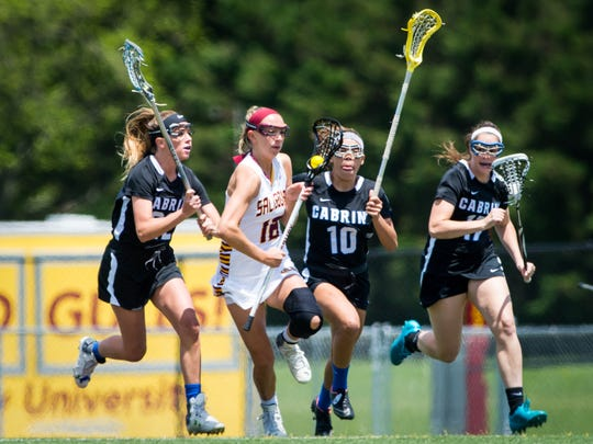 Salisbury attack Hannah Young (18) works up field against