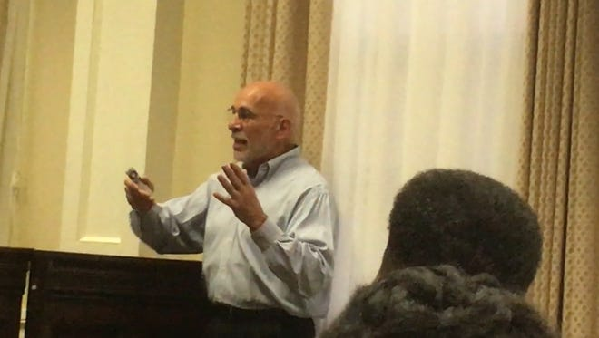 Stephen Barone, founder of Transformation Systems, tells Hattiesburg officials about the benefits of taking an inclusive approach to strategic planning.