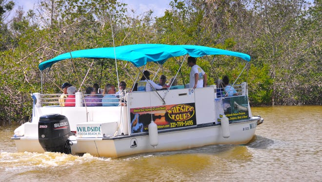 Wildside Tours heads out through the Thousand Islands from Ramp Road Park in Cocoa Beach. The boat had tourists from California, Indiana, Michigan and upstate New York on board for the afternoon ecotour.