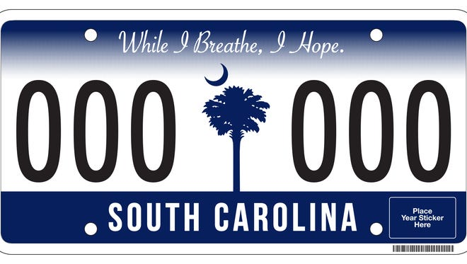 South Carolina's new license plate will start being issued in 2016.