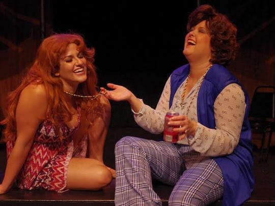 "From left: Gabrielle Arias plays Lynette ""Squeaky"" Fromme and Rachael Kage plays Sara Jane Moore. Both women made attempts on the life of President Gerald Ford."