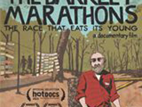 "A movie poster from the film ""The Barkley Marathons:"