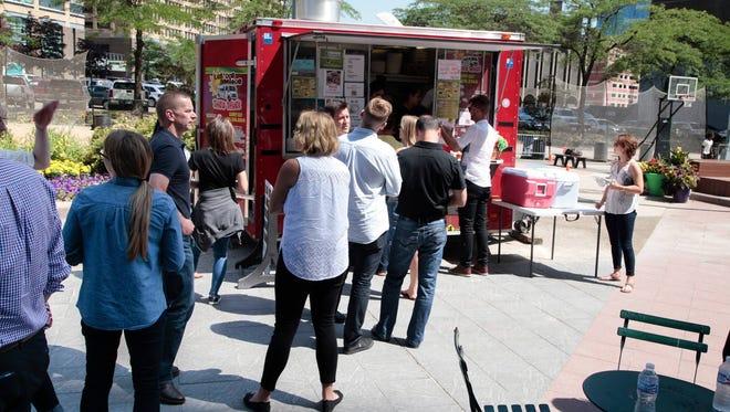Food trucks will be at Cadillac Square, the Woodward Esplande, Spirit of Detroit Plaza and Beacon Park.