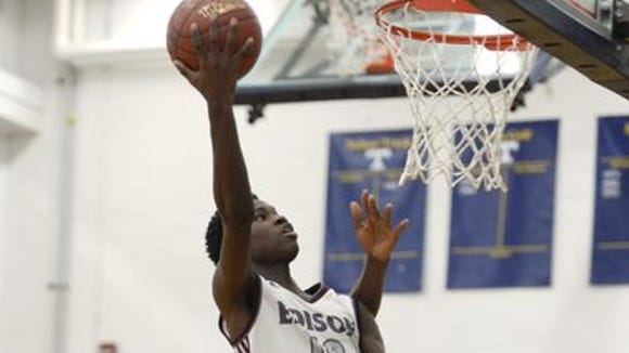 Edison guard Chaz McKinney with a layup against Franklin during a tournament at Webster Thomas this season.
