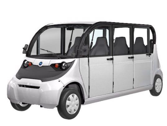 E-Shuttle von Polaris und May Mobility.