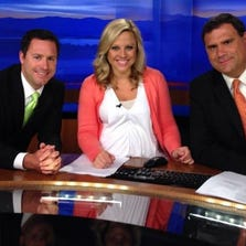 Mike Witcher on his last morning newscast with Abby Ham and Russell Biven