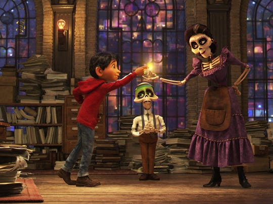 "Miguel, a boy with a love for music, visits the Land of the Dead in ""Coco."""