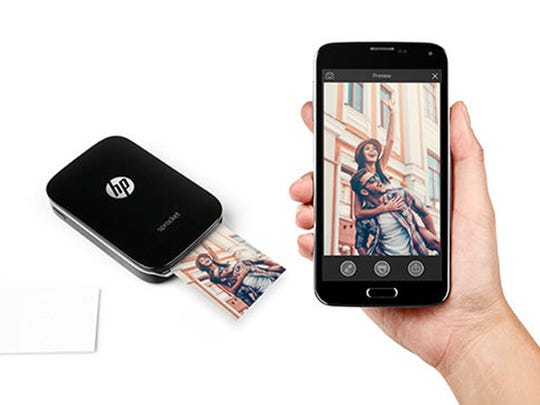 HP Spocket Photo Printer lets you print from anywhere.