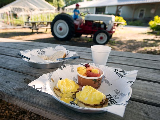"Buckingham Farms – aka ""the Farm"" – serves breakfast and lunch Tuesday through Saturday and dinner on Friday. Most order the crab cake BLTs and Buckingham Cubans to go, but it's more fun to enjoy an order of eggs Benedict with homemade hollandaise on a picnic table amid the lush landscape."