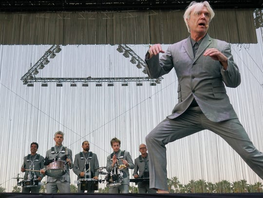 David Byrne performs at the Coachella Valley music