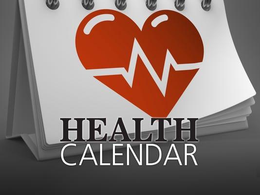 Presto graphic health calendar