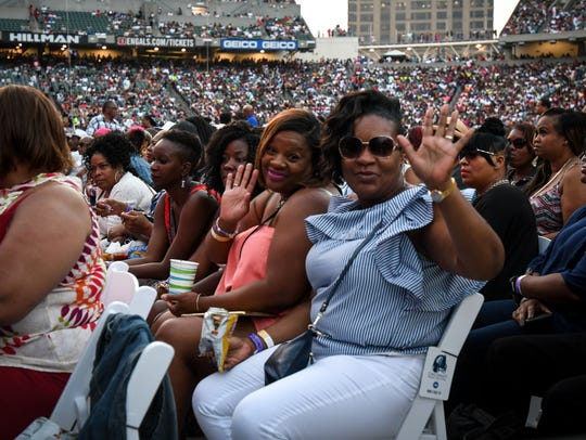 Thousands attend the Cincinnati Music Festival Friday,