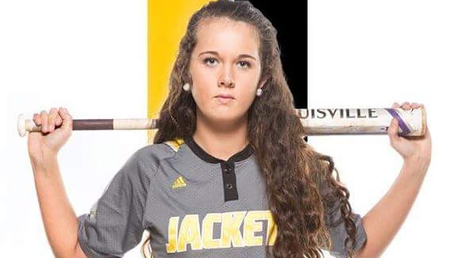 Heather Simmons during her time playing softball for the Fairview High School Yellow Jackets.
