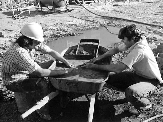 Saber tooth cat excavation in 1971 at the First American