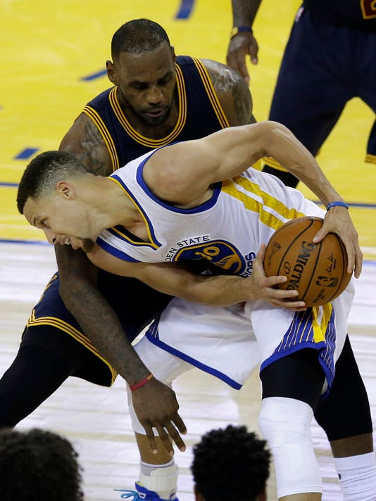 AP NBA FINALS CAVALIERS WARRIORS BASKETBALL S BKN USA CA