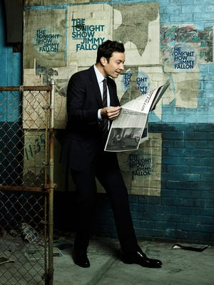 Jimmy Fallon poses for his first round of 'Tonight Show' portraits.