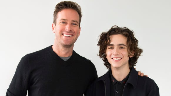 'Call Me By Your Name' stars Armie Hammer, left, and