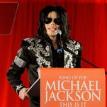 In this March 5, 2009 file photo, Michael Jackson announces that he is set to play a series of comeback concerts at the London O2 Arena in July. He died in June 2009.
