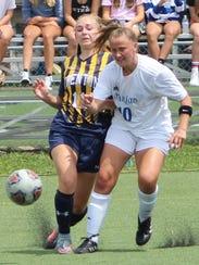Marian senior midfielder Claudia Schilling (10) and