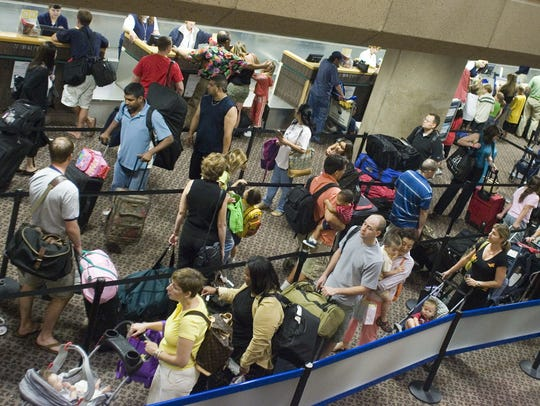 March is the busiest month at Phoenix Sky Harbor International