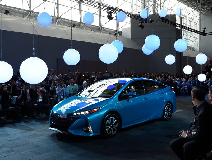 The Toyota Prius Prime makes its debut at the New York