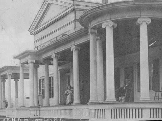The Dr. Porter home in Upper Lisle in the Town of Triangle, around 1912.
