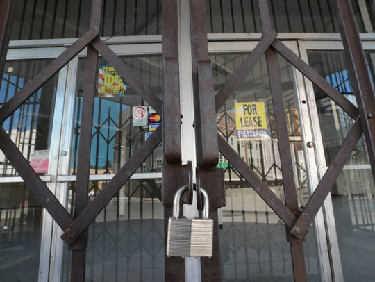 The old Melrose building is locked.
