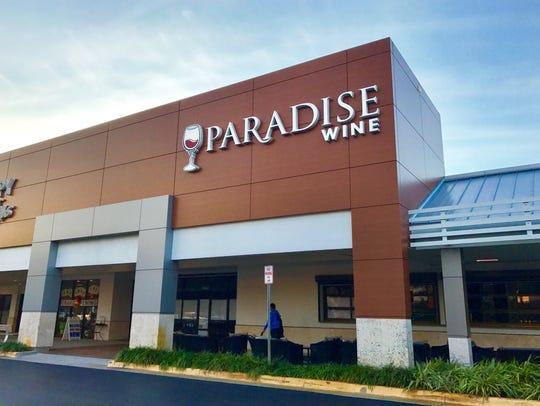 Paradise Wine, the retail shop and entertainment venue