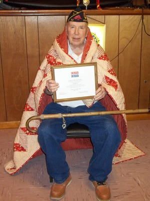 Rod MacLeod was recently awarded a Quilt of Valor by the Mountain Home Quilts of Valor at the American Legion Post 52. McLeod is a Korean War veteran of the US Navy.
