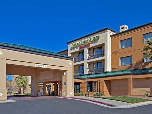 The Courtyard by Marriott Hotel in East Central El Paso is one of two El Paso hotels that are part of a proposed, 26-hotel,  $351.4 million sale.