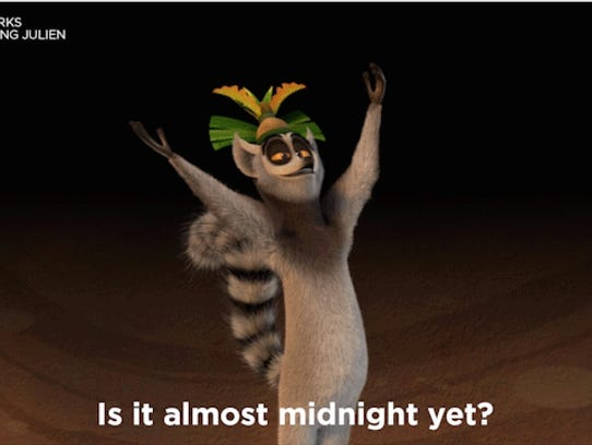 The star of 'All Hail, King Julien' leads a New Year's