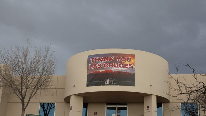 "Sitel, replaced their ""Now Hiring"" Sign with a ""Thank you Las Cruces"" Sign after it was announced that would be closing the Las Cruces offices. Wednesday January 18, 2017"