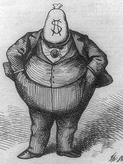 Editorial cartoonist Thomas Nast fought New York corruption in the late 19th Century by lampooning it in Harper's Weekly.