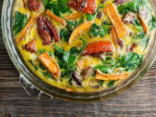 Roasted Vegetable Frittata.