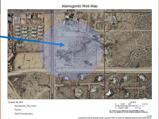 This map shows the property where Cottonwood Christian