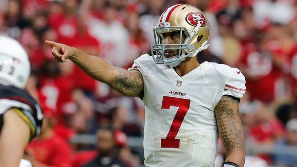 San Francisco 49ers quarterback Colin Kaepernick is protesting police brutality.