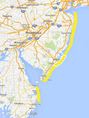 A moderate risk of rip currents on the Shore today,
