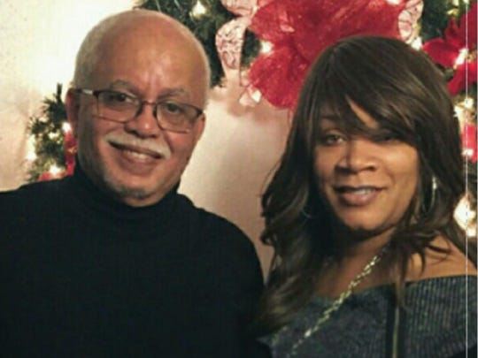 Wayne County Executive Warren Evans poses with Renata Seals McCord. They were married in a small ceremony at Triumph Church on Detroit's east side in 2016.