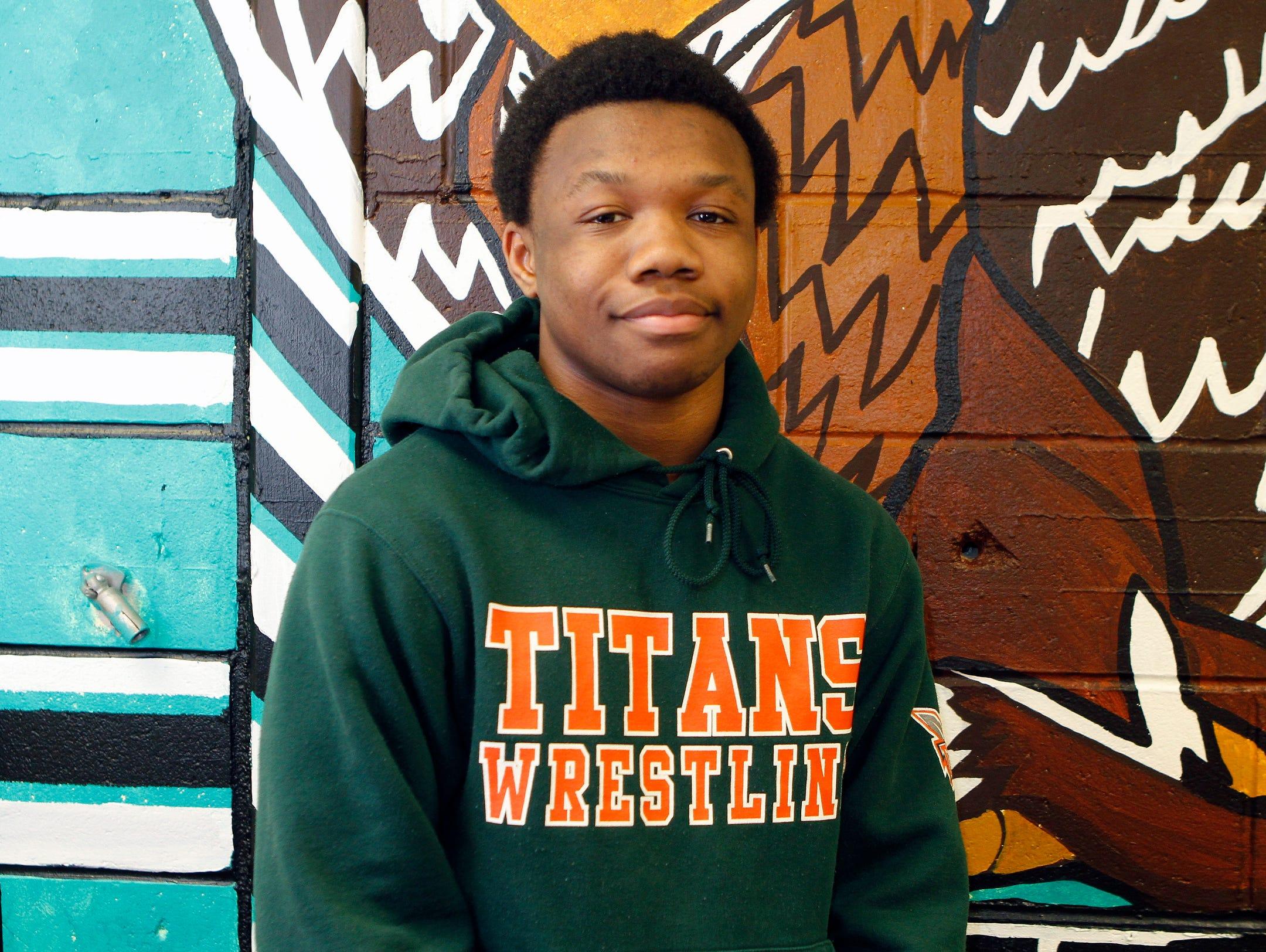 Ramapo High School's Trey Wardlaw, 2016 Rockland County Wrestler of the Year. Tuesday, March 29, 2016.