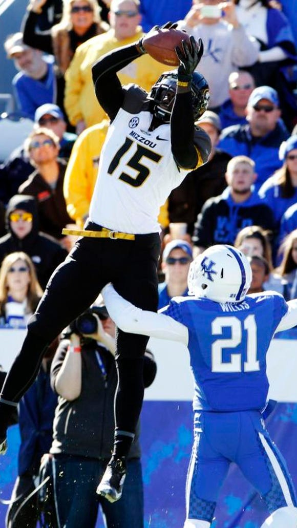 Kentucky had no answer for Missouri wide receiver Dorial Green-Beckham, who scored four touchdowns.