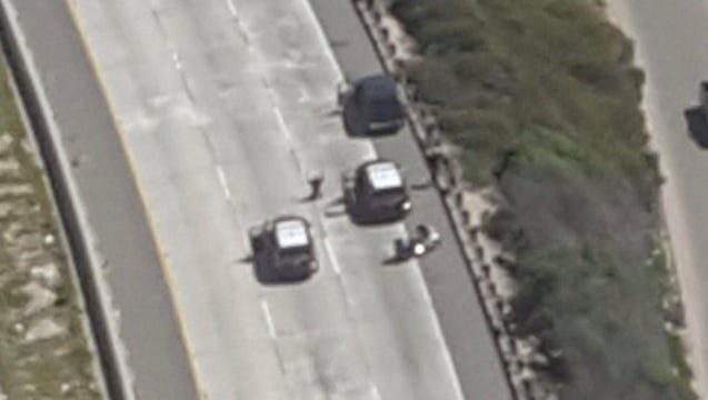 At least one person was taken into custody after a pursuit that stretched from Santa Barbara to Ventura on Friday afternoon.