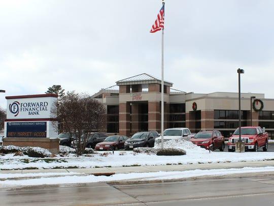 Forward Financial Bank, 207 W. Sixth St., on Dec. 2,
