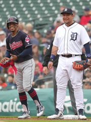 Detroit Tigers first baseman Miguel Cabrera and Cleveland