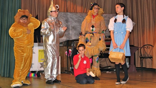 "Students from Bishop Schad Regional School rehearse for their production of ""The Magical Land of Oz."""