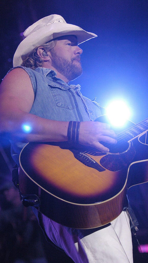 Toby Keith performs at the Delaware State Fair in Harrington in 2007.