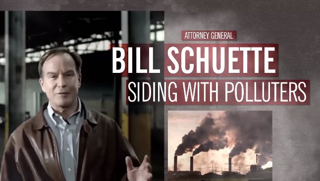 Independence USA, the Michael Bloomberg-backed super political action committee, is set to launch television ads in the coming weeks that criticize Schuette for joining a lawsuit that challenges the Clean Power Plan, which calls for reductions in greenhouse gases.
