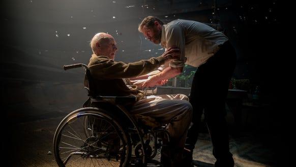 Charles (Patrick Stewart) and Logan (Hugh Jackman)