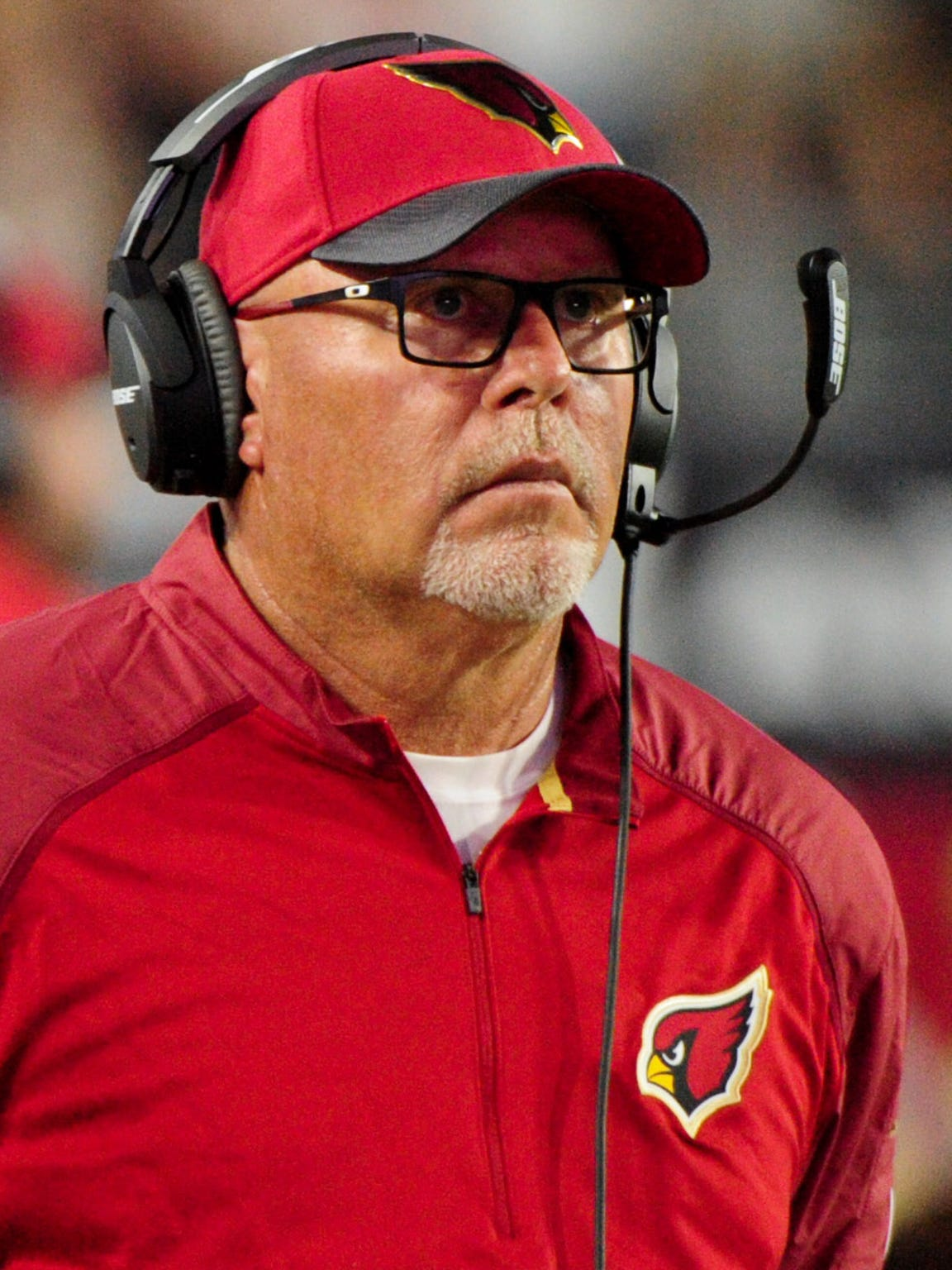 Arizona head coach Bruce Arians lands at No. 35 in