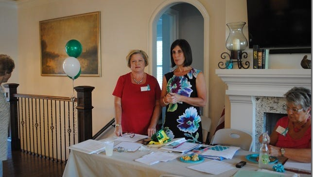 Shown from left are Hartwell Service League President Lynn Everett and Hartwell YMCA director Mandy Floyd.